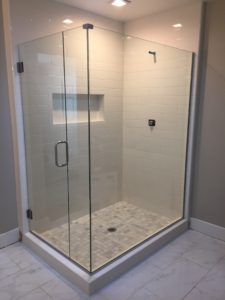 custom frameless glass shower enclosures - Frameless Glass Shower Door